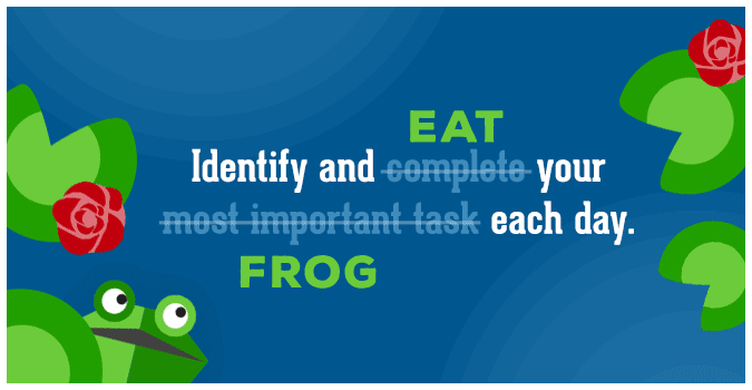 graphic-image-of frog-and-lily-pads-with-quote-identify-and-complete