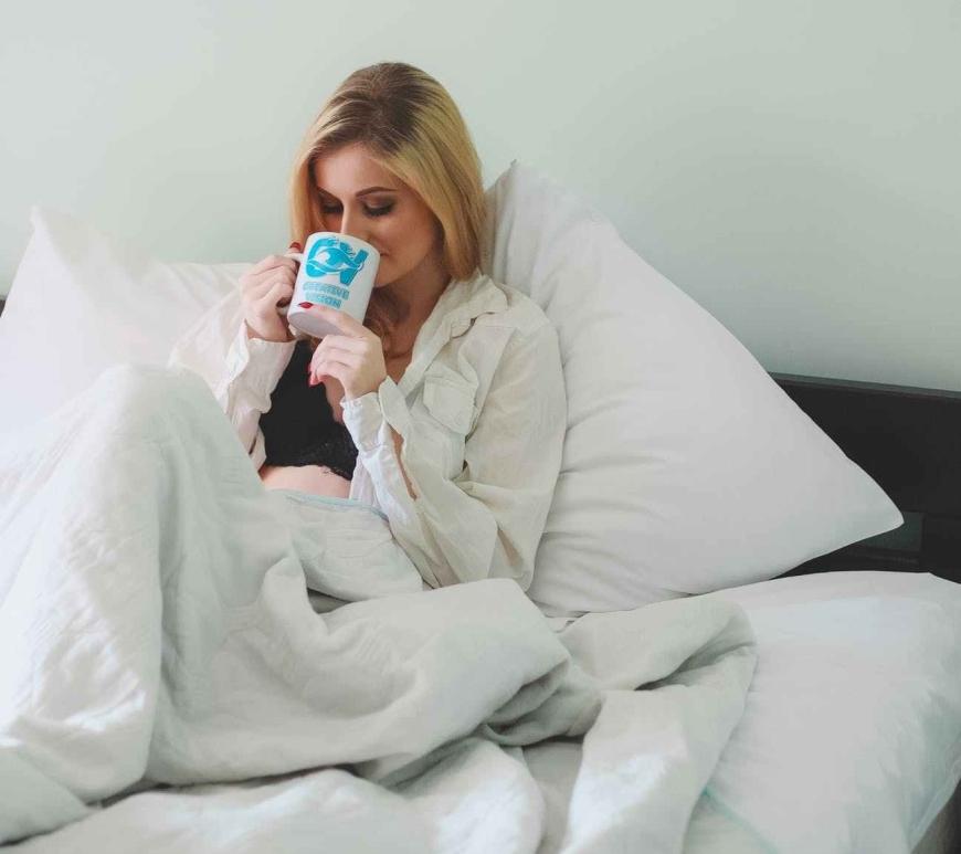 my post viral lethargic self girl coffee duvet