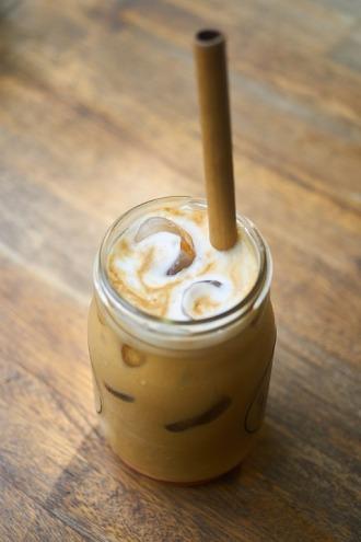 cold coffee-mason jar