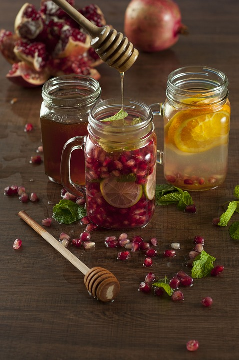 infused water mason jars