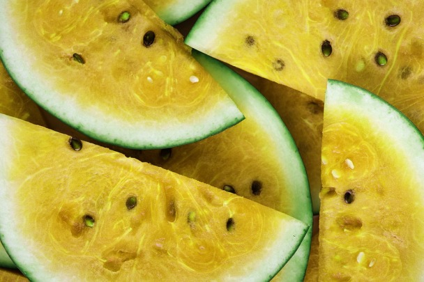 several slices of yellow water