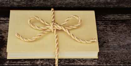 book tied with string perfect hostess gift