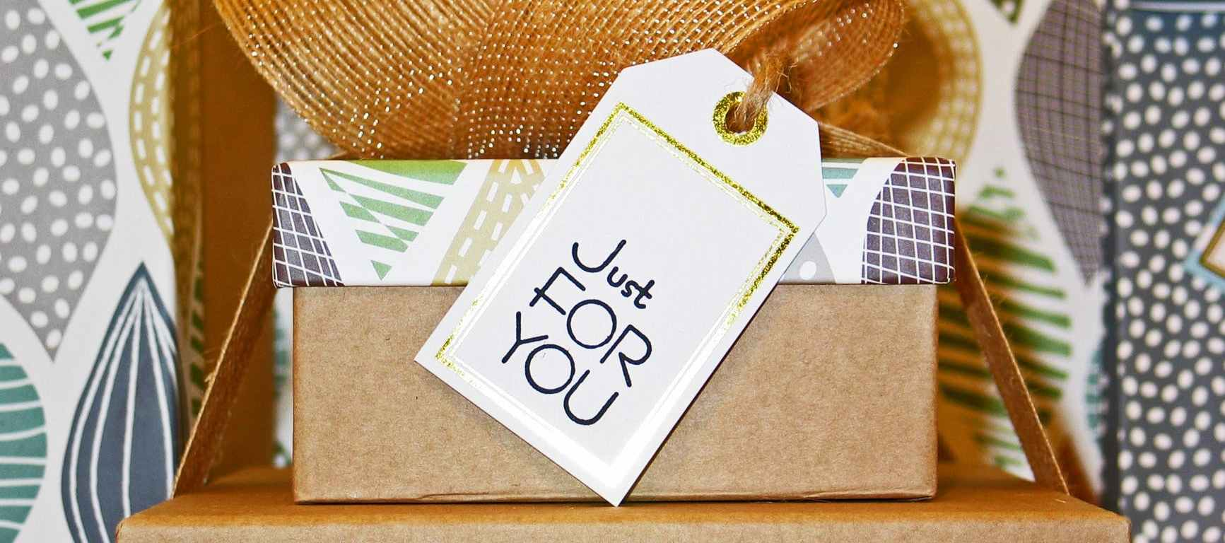 box with just for you tag perfect hostess gift