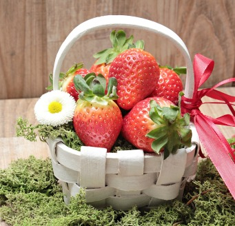 strawberries in basket perfect hostess gift