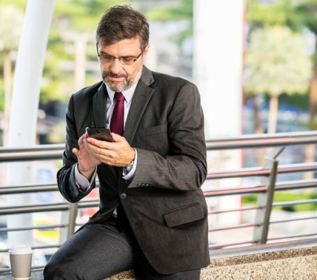 man making phone call for to do list