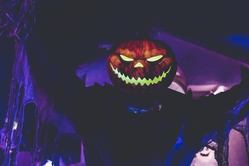 halloween and horror stories evil face pumpkin