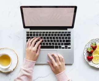 liebster award laptop and teacup