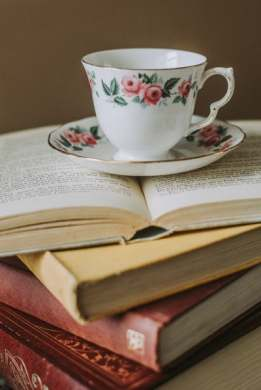liebster award teacup and books