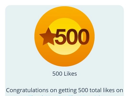 blogging 500 likes