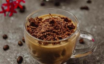 sprinkle chocolate on dessert