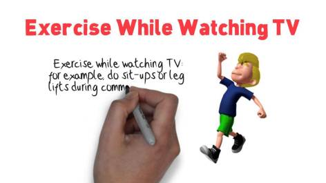 exercise while watching t v