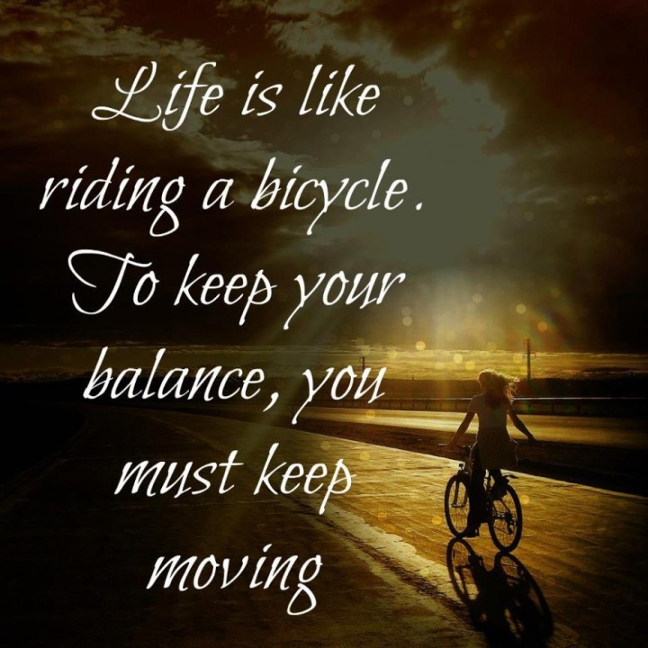 celebration of life life is like riding a bicycle