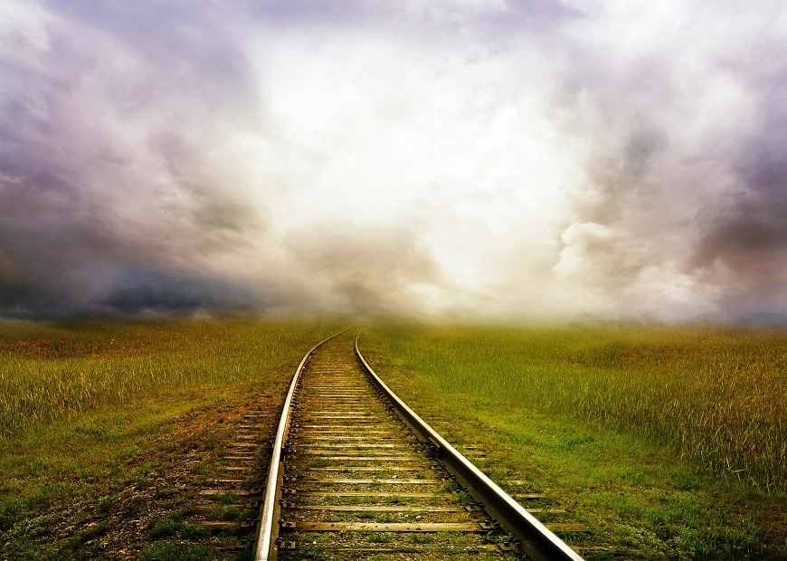 tryst railroad tracks horizon
