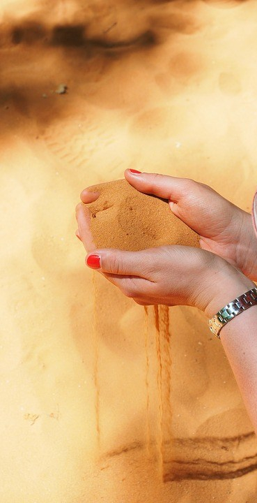 tryst sand slipping through hands