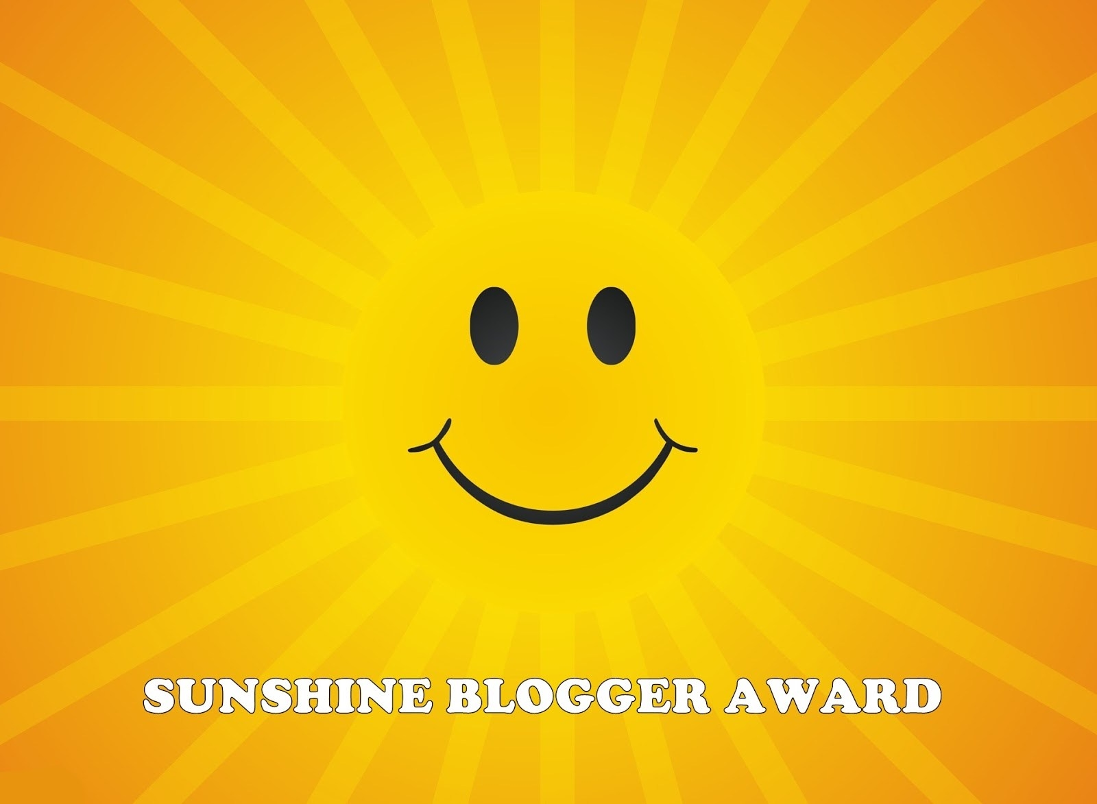 sunshine blogger award smiley face