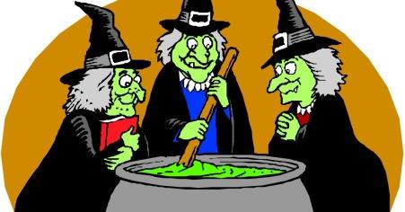 parody of macbeth three witches cauldron