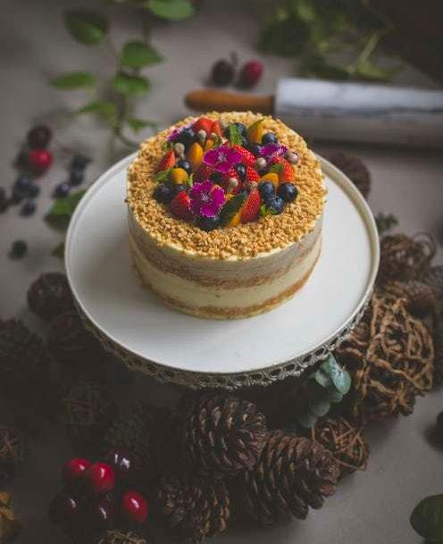 white elephant party dec 6 cake mixed fruit