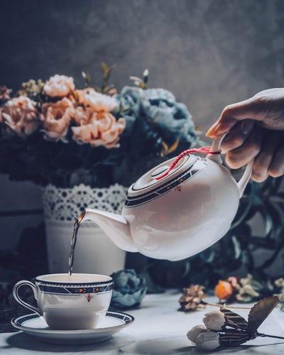 leisure pouring tea
