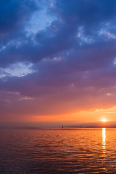 treasure sunset water