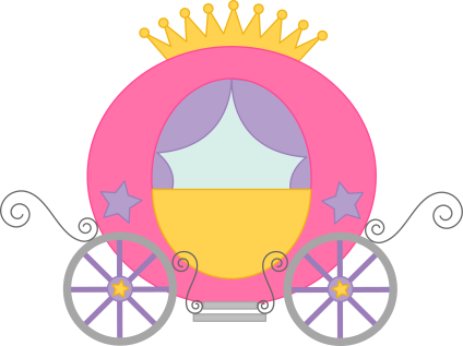 fairy tales cinderella's carriage clip art