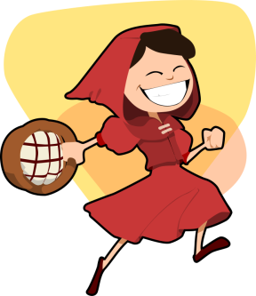 fairy tales little red riding hood clip art