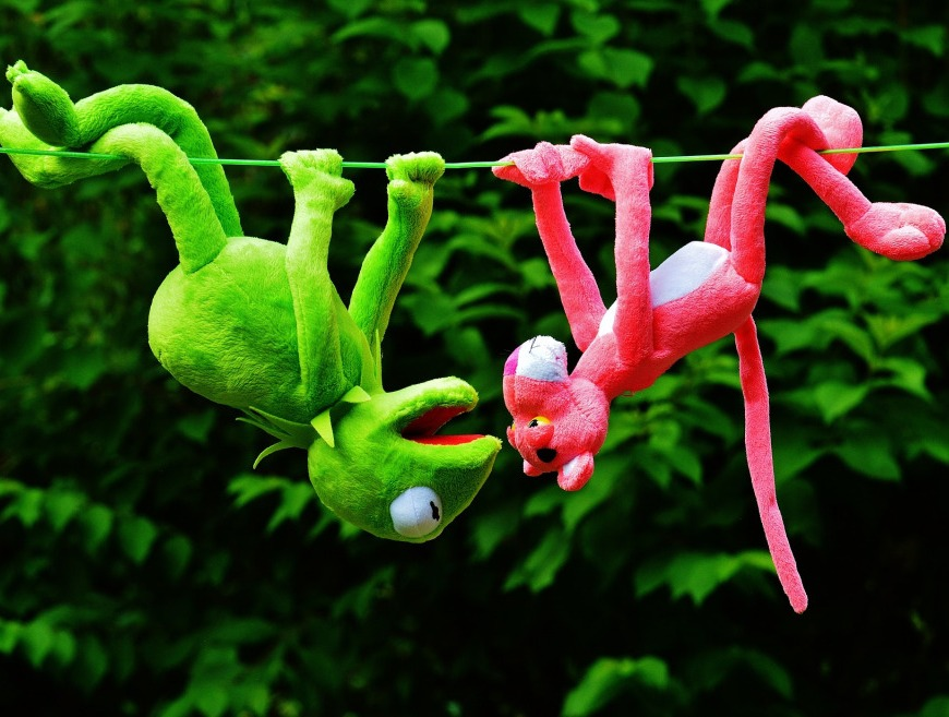 hang out kermit pink panther