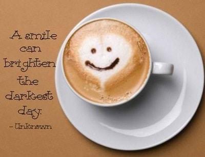 a smile can brighten the darkest day