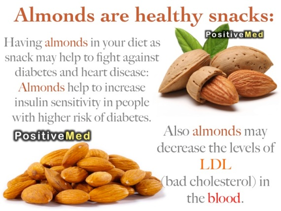 almonds are healthy snacks