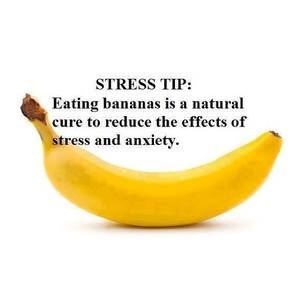 bananas cure stress