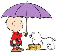 kindness charlie brown umbrella snoopy