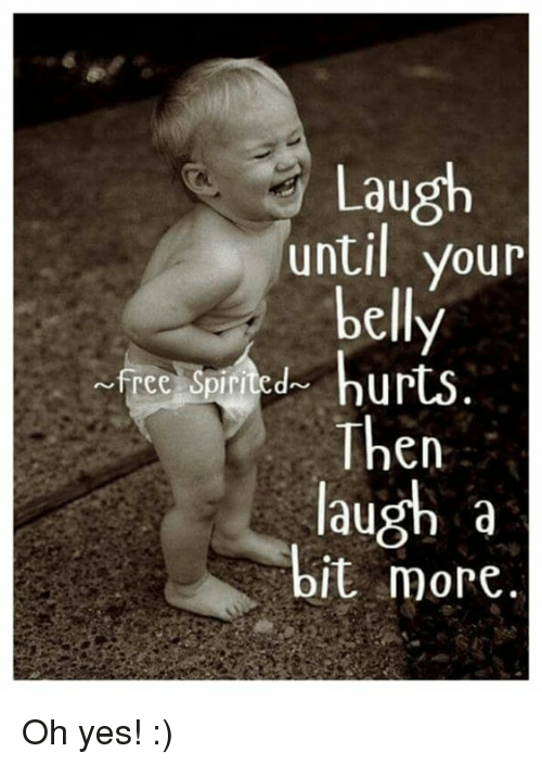 laughter laugh until your belly hurts
