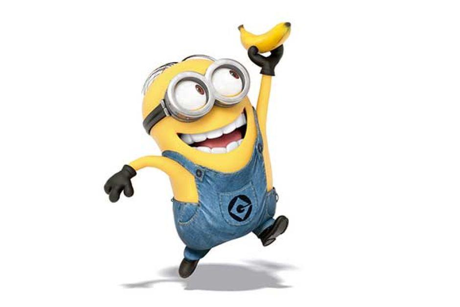 minion holding banana