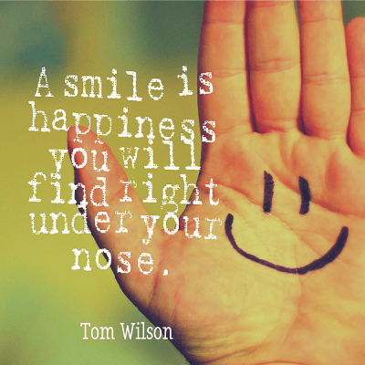 smile happiness under your nose
