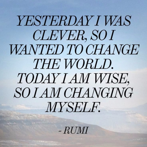 today I am wise so I am changing myself quote
