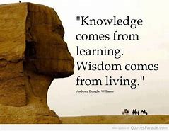 wisdom comes from learning quote