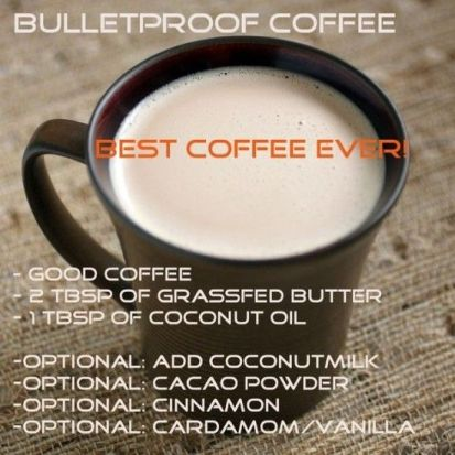 bullet proof coffee recipe.