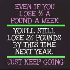 even if you lose a pound a week....keep going persistence