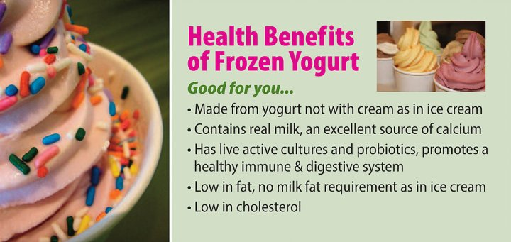 health benefits of frozen yoghurt