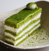 matcha green tea flavoured cake