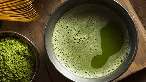matcha powder and liquid