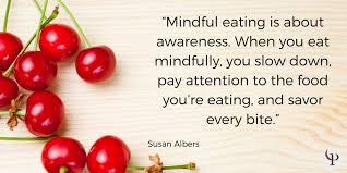 mindful eating cherries