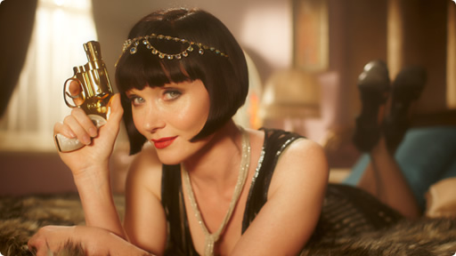 miss fisher with pistol