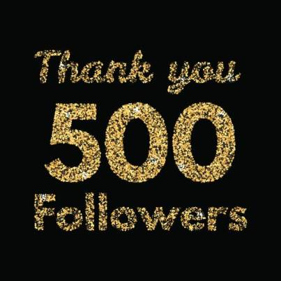 500 followers thank you