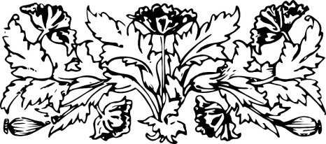 bookplate decoration flower