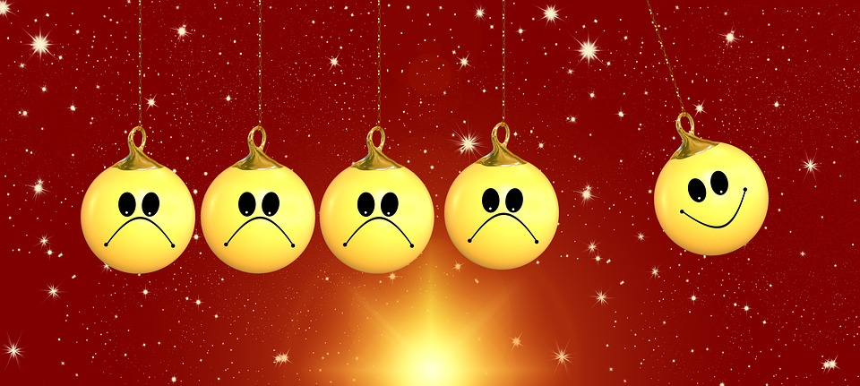four sad one happy ball