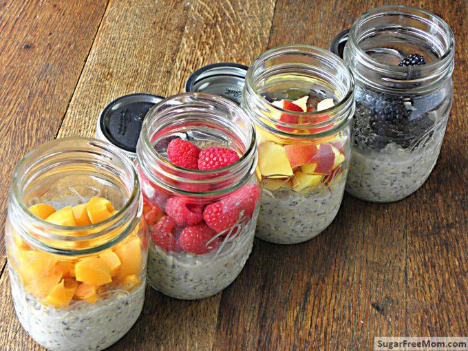 overnightoats 4 mason jars