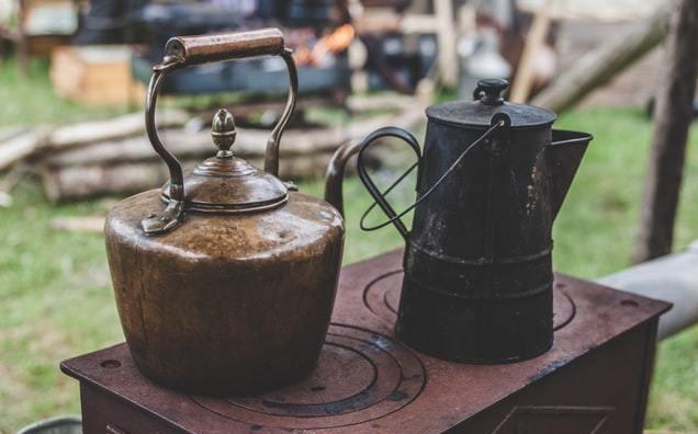 two antique teapots