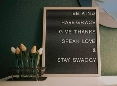be kind have grace give thanks quote