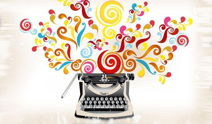 Colorful typewriter