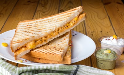 paninis on white plate